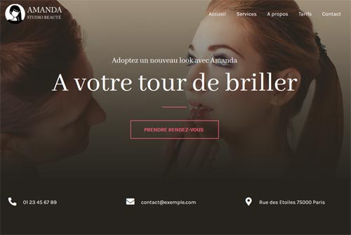 exemple site internet beauté