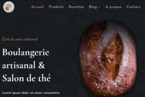 exemple site internet boulangerie