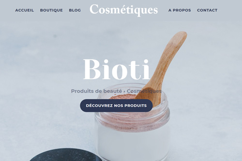 exemple site internet boutique en ligne