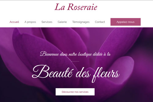 exemple site internet fleuriste